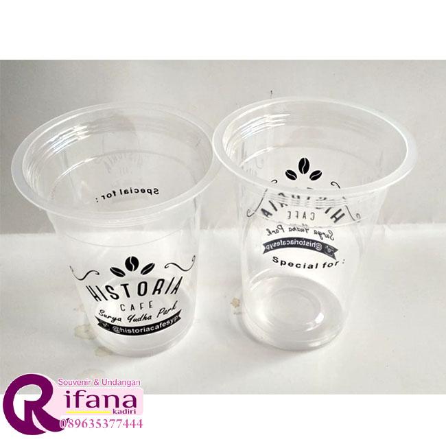 Sablon Cup Plastik Sampit