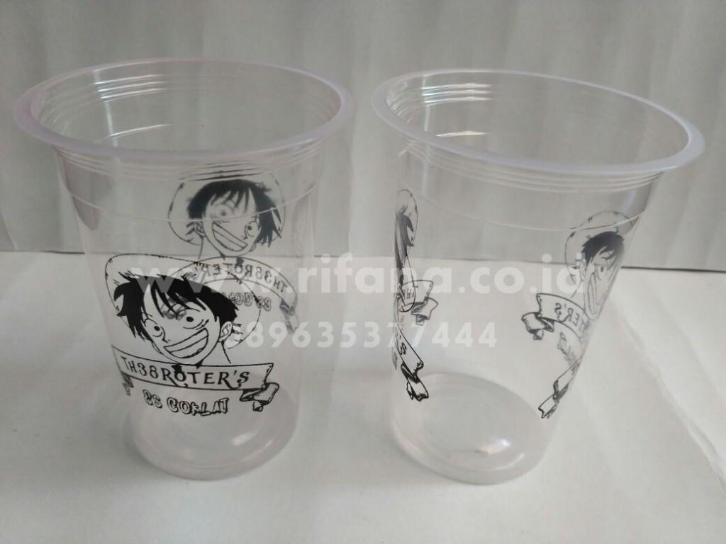 Sablon Cup Plastik Bintuhan