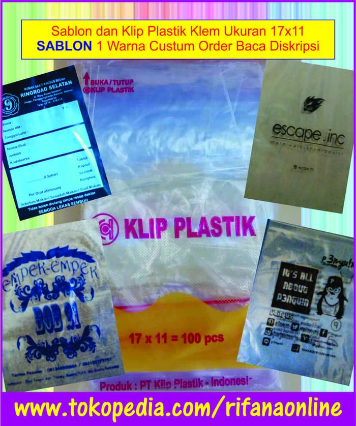 Sablon Plastik Klip Uk 17×11 cm